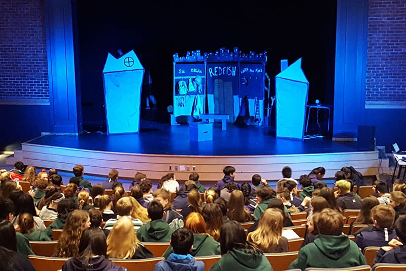 Student showing of 'Redfish', a Halifax Theatre for Young People partnership, April 2018