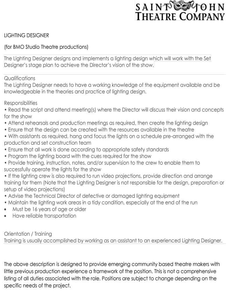 SJTC Lighting Designer
